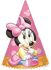 Minnie Birthday Cone Hats- Papper