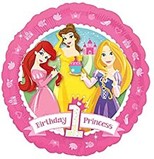 Princess 1st Birthday Metallic Balloon