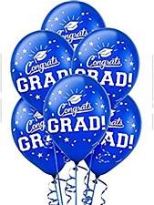 """15 ct, """"Congrat Grad!"""" Blue latex"""