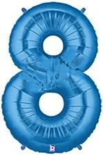 """34"""" Number 8 Blue"""