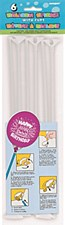"""12"""" White Balloon Sticks with Cups, 6ct"""