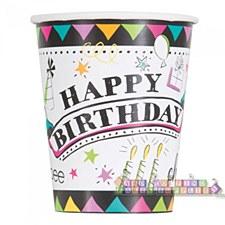 Doodle Birthday 9oz Cups