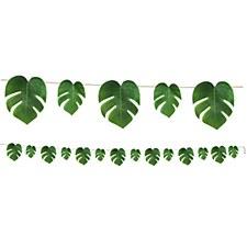 Tropical Palm Leaves Fabris Streamer