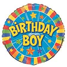 "18"" Birthday Boy Foil Balloon"
