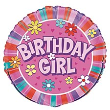 "18"" Birthday Girl  Foil Balloon"