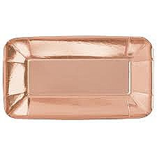 Foil Rose Gold Long Appetizer Plate