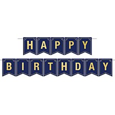 Navy Blue Birthday Foil Streamer