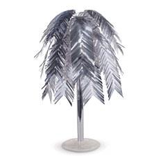 Metallic Silver Feather Cascade Centerpiece