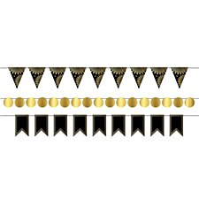 Mini Streamer Kit Black & Gold Foil