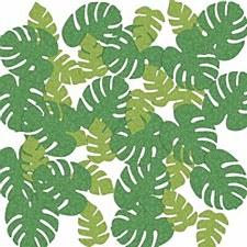 Deluxe Tropical Palm Leaf Sparkle Confetti