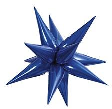 "Royal Blue 27.5"" Star Burts Balloon"