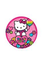 """Hello Kitty Rainbow 7""""Plates"""