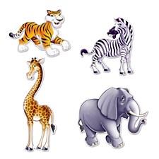 Jungle Animal Cutouts, 4ct