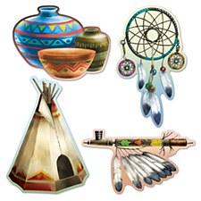 Native American Cutouts, 4ct
