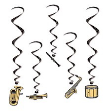 Musical Instruments Whirls, 5ct