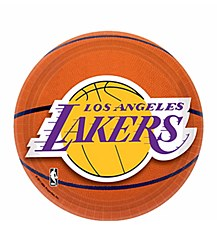"""7"""" Los Angeles Lakers Plates"""