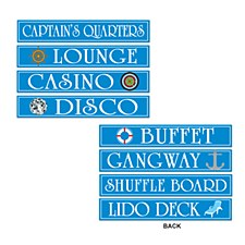 Cruise Ship Sign Cutouts