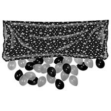Black & Silver Plastic Balloon Bag