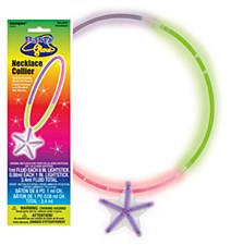 Tri-Color Glow Necklace with Star Pendant