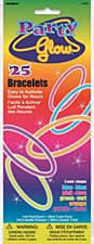 "8"" Glow Bracelets - Assorted, 25ct"