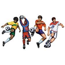 Soccer Cutouts, 4ct