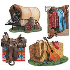 Cowboy Cutouts, 4ct