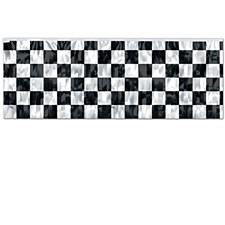 FR Metallic Checkered Fringe Banner