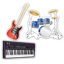 Musical Instrument Cutouts
