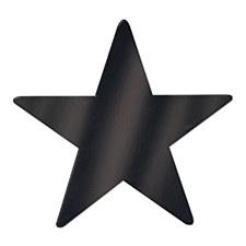 Foil Star Cutout-Black