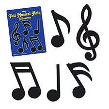 Foil Musical Note Silhouettes