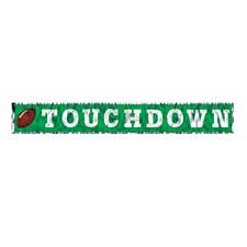 Metallic Touchdown Fringe Banner