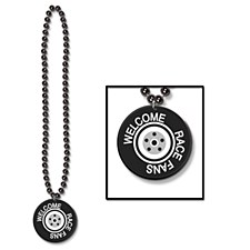 Beads w/Printed Welcome Race Fans Medal