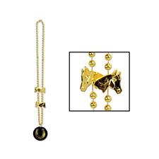 Beads with Horseshoe Medallion