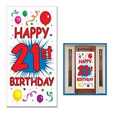 21st Birthday Door Cover