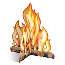 3-D Campfire Centerpiece