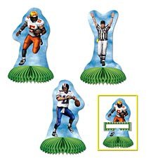 Football Mini Centerpieces, 3ct