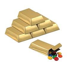 Foil Gold Bar Favor Boxes, 12ct.