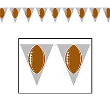 Football Pennant Banner, 12Ft.