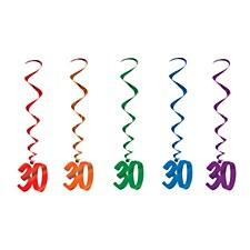 30th Birthday Whirls, 5ct