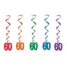 60th Birthday Whirls, 5ct
