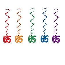 65th Birthday Whirls, 5ct