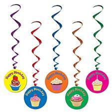 Happy Birthday Whirls, 5ct