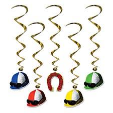 Jockey Helmet Whirls, 5ct