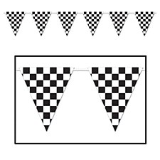 Checkered Giant Pennant Banner