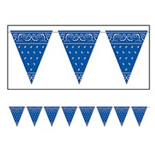 Blue Bandana Pennant Banner