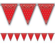 Red Bandana Pennant Banner