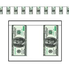 $100 Bill Pennant Banner