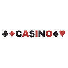 Glittered Casino Streamer