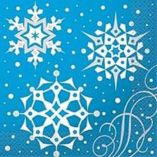 Silver Snowflake Lunch Napkin