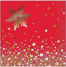 Gold Sparkle Christmas Bev. Napkin